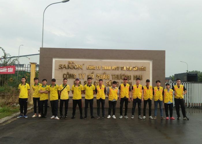 Vệ sinh tổng kho bia Sài Gòn sông Tiền