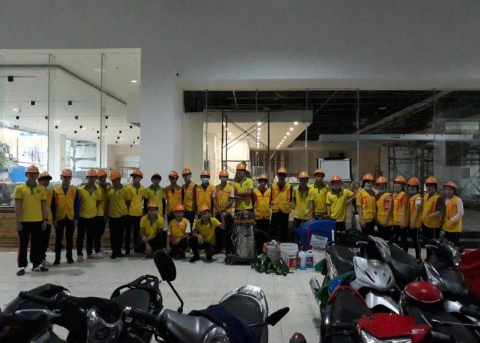 Vệ sinh sau xây dựng Hyundai Long Xuyên