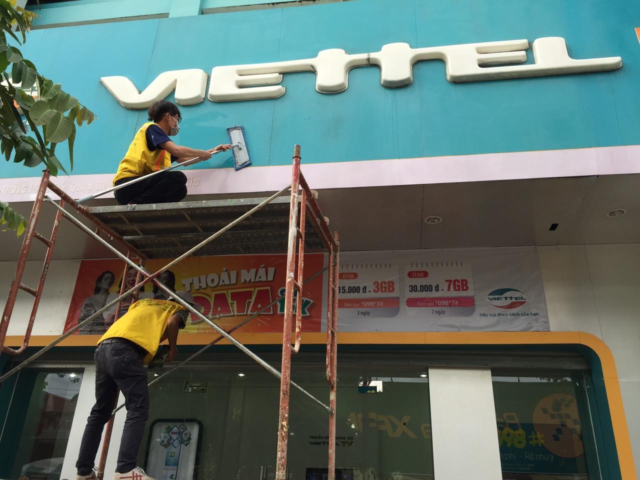 Tổng vệ sinh chuỗi cửa hàng Viettel 2020
