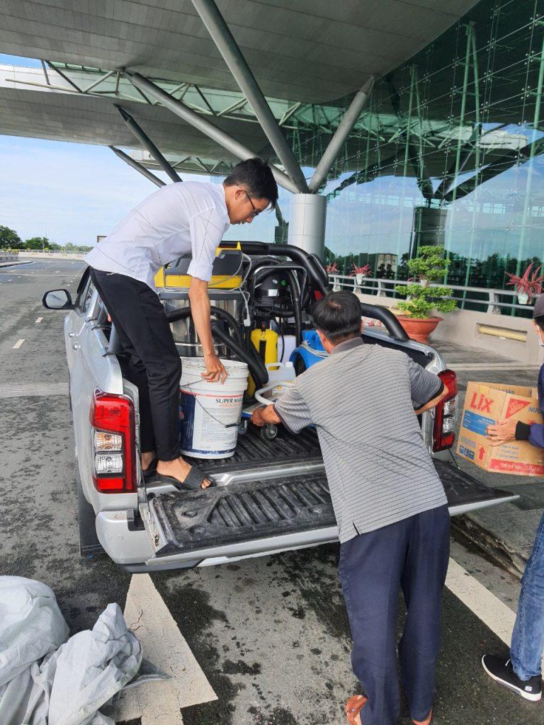 dịch vụ giặt ghế tại sân bay quốc tế Cần Thơ