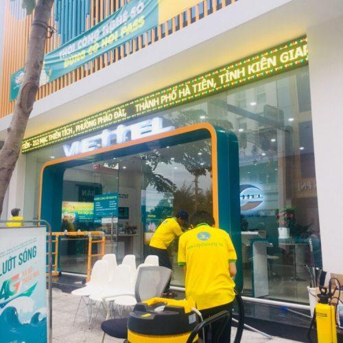 Tổng vệ sinh chuỗi cửa hàng Viettel Kiên Giang